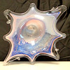 Retro Iridescent Blown Glass Fruit Bowl.  19 1/2 x 17 1/2 x 5.  <b>$40</b>