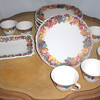 Vintage Elevated Fruit Pattern Crockery Set. <b>$95</b>