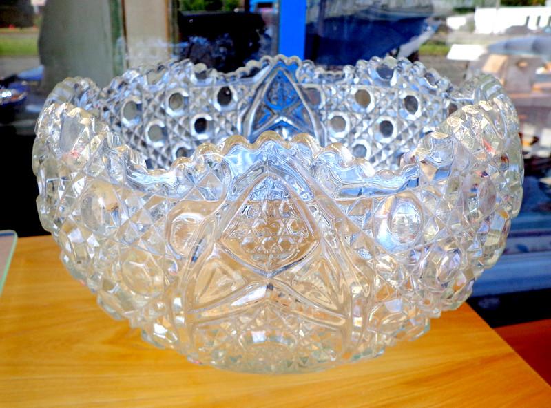 Sparkling Crystal Glass Bowl.