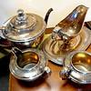 Silver Plated Tea Service.  <b>$95</b>