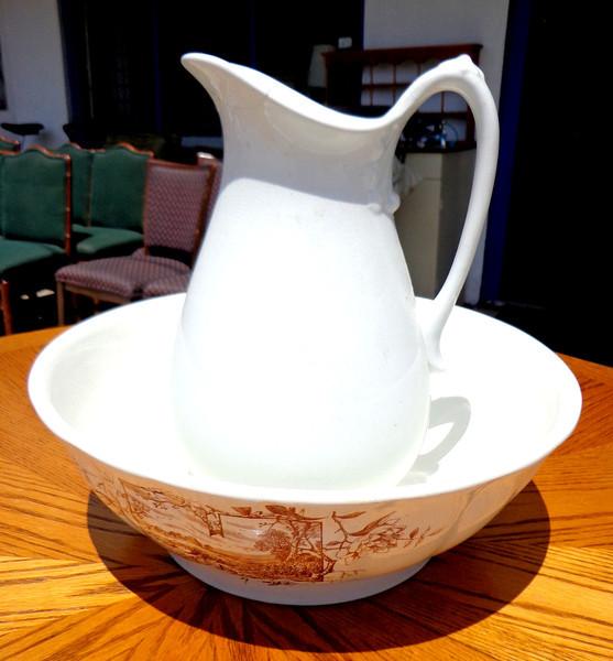 Johnson Brothers Royal Ironstone China dry Sink Pitcher & Bowl.  <b>$35</b>