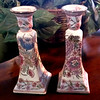 Set of 2 Chinese Porcelain Candle Holders in Excellent Condition.  <b>$25 for the set.</b>