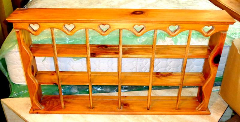 Solid Wood Wall Shelf.  37 x 6 x 21.  <b>$40</b>