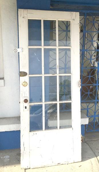 White Glass Pane Exterior Door.  32 x 2 x 79.  <b>$75</b>