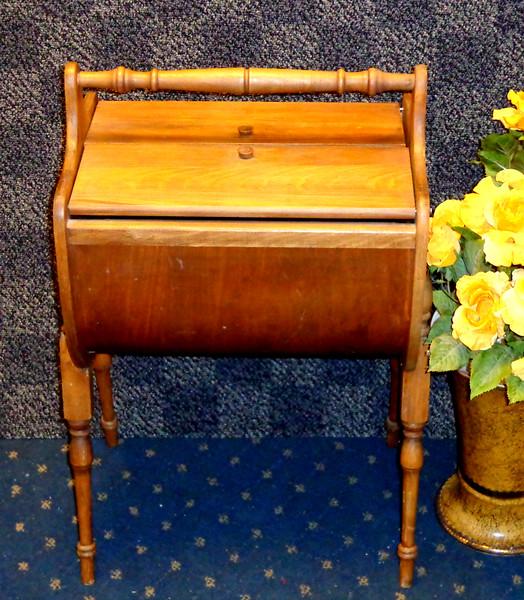 Vintage Solid Wood Sewing Cabinet.  16 x 13 x 26.  <b>$60</b>