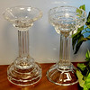Set of 2 Versatile Cut Glass Candle Holder or Candy Dish Accent Pieces.  5 1/2 x 10.  <b>$75 for the set.  $40 each.</b>