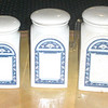 Set of 3 Retro Kitchen Canisters.  <b>$35</b>