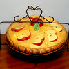 Attractive Elegance Ceramic Pie Server / Cover in Excellent Condition.  Microwave and conventional oven approved.  11 x 9 1/2.  <b>$20</b>