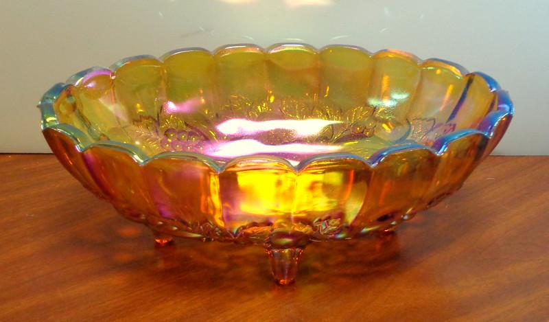 Elegant Carnival Glass Serving Bowl.  12 x 4.  <b>$45</b>