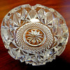 Crystal Glass Ash Tray.  5 x 2.  <b>$35</b>