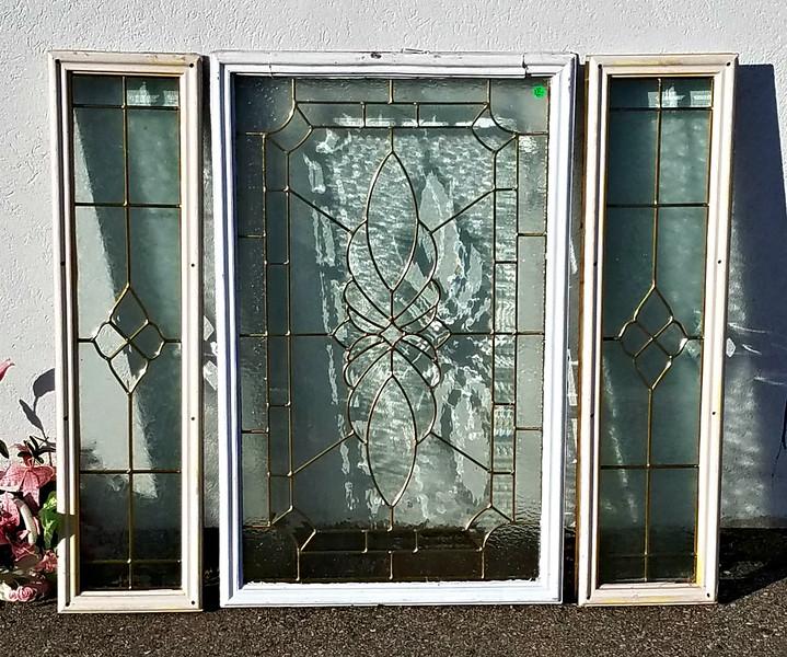 Leaded Glass Windows Set