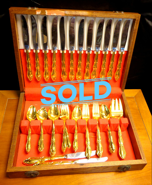 Gold Plated Flatware Set