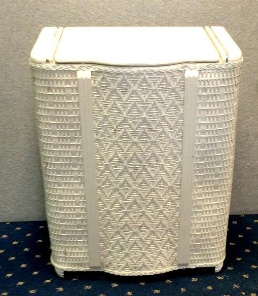 Vintage Wicker Laundry Hamper