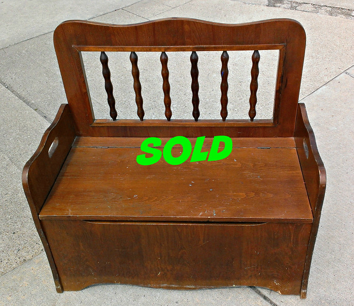 Solid Wood Toy Chest Bench Seat.  32 x 19 x 30.  <b>$35</b>