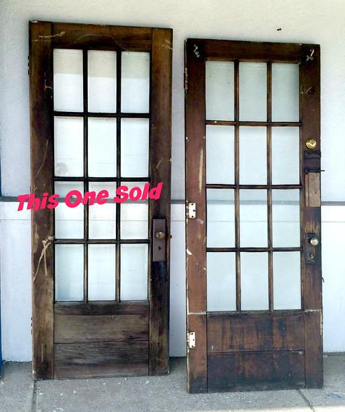 Solid Wood Glass Pane Exterior Doors.  32 x 2 x 79 1/2.   <b>$125 each</b>
