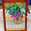 Beautiful Stained & Leaded Glass Window in Excellent Condition.  24 1/4 x 36.  <b>$150</b>