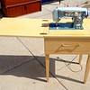 Compaq - Zig Zag Deluxe - Cabinet Sewing Machine.  22 x 17 1/2 x 31 1/2 (in closed position).  <b>$60</b>