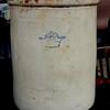 Vintage Number 12 Stoneware Pickling Crock.  16 x 20.  <b>$60</b>