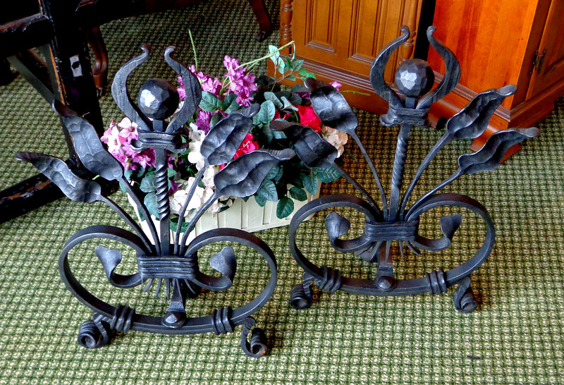 Wrought Iron Fireplace Dogs