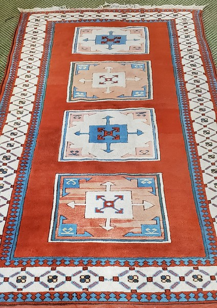 Vintage Hand Woven Area Rug