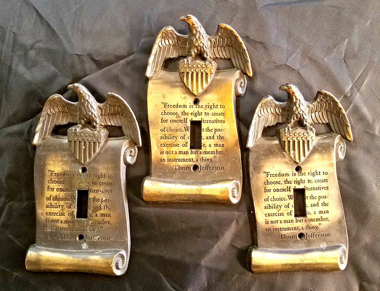 Federal Style Brass Switch Plates