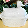 Duck Ceramic Serving Dish.  12 x 6 x 10.  <b>$25</b>