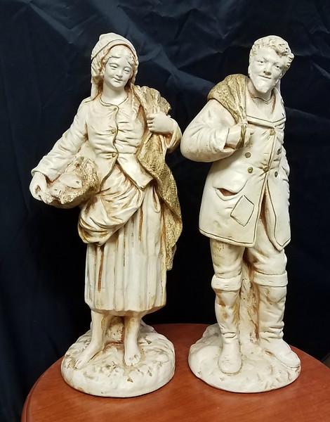 Marwal Chalkware Figurine Statues