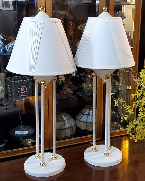 Mid Century Atomic Table Lamps