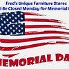 Closed Monday for Memorial Day