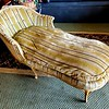 French Country Gold Chaise Sofa