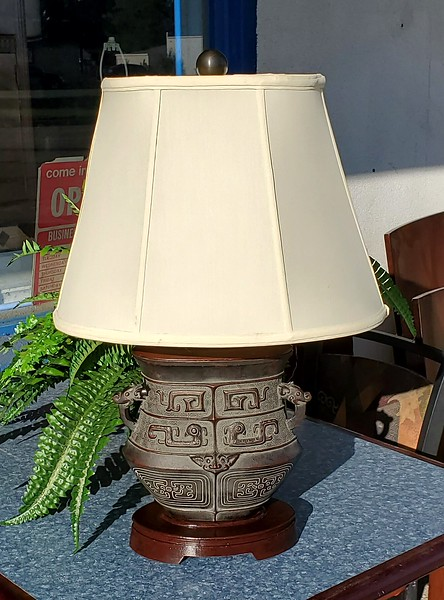 Asian Bronze Table Lamp