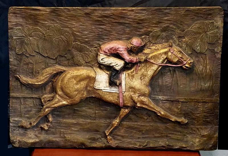 Jockey on Horse in Motion