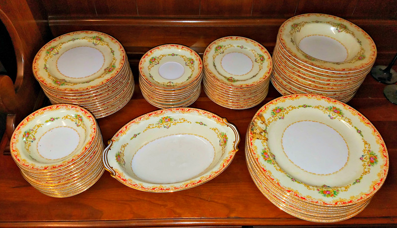 Rare Vintage <i>Noritake</i> Occupied Japan China Set.  Approximately 60 pieces.  <b>$125</b>