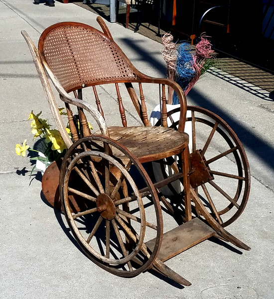 Antique 1800's Wheelchair