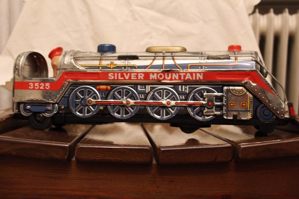 Vintage Metal Train Engine