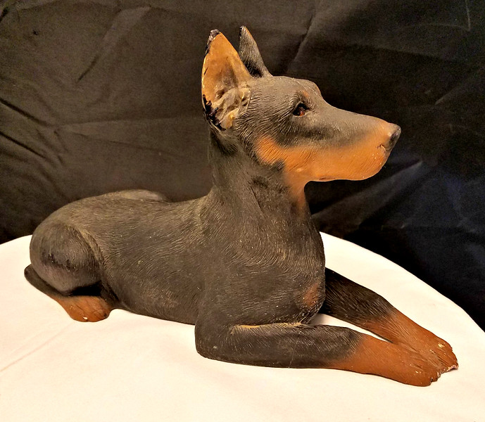 Retired Sandicast Dog Statue