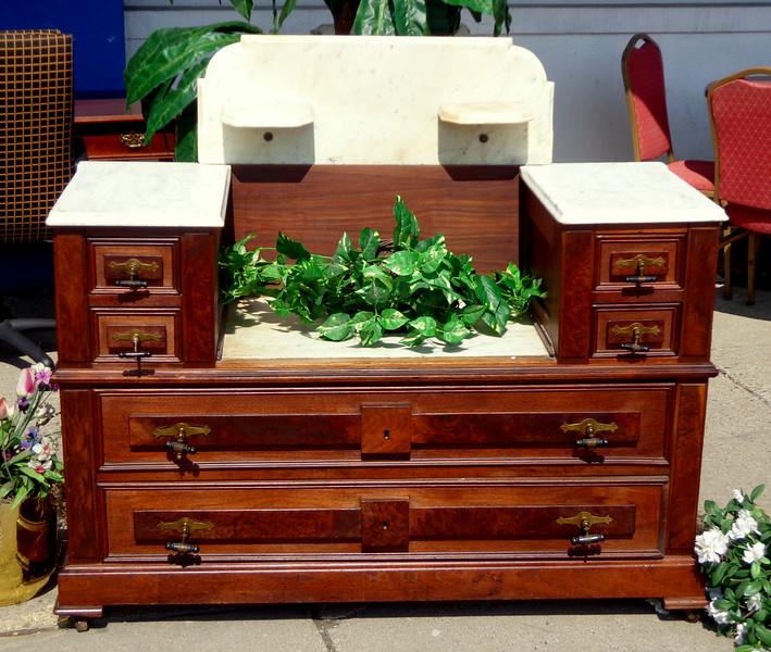 Antique Marble Top Dresser