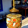 Asian Tiled Table Lamp in Excellent Condition.   12 x 22.   <b>$75</b>