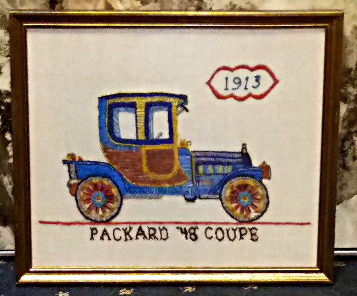 "Packard ""48"" Coupe Needlepoint"