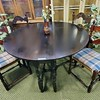 Antique Drop Leaf Dining Table Set