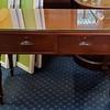 Vintage Solid Wood Glass Top Desk