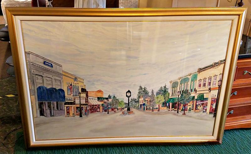 Suburban Michigan Downtown Framed Art