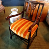 Spindle Leg Accent Chair