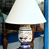Asian Theme Porcelain Table Lamp