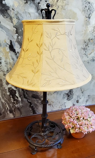 Antique Wrought Iron Table Lamp