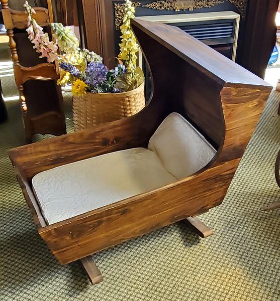 Antique Rocking Baby Cradle