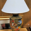 Asian Theme Table Lamp.  16 x 24.  <b>$45</b>