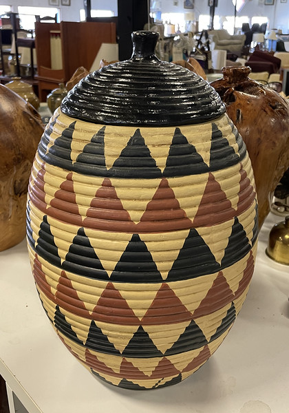 Solid Wood Urn / Vase.