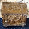 Antique Brass Fireplace Box