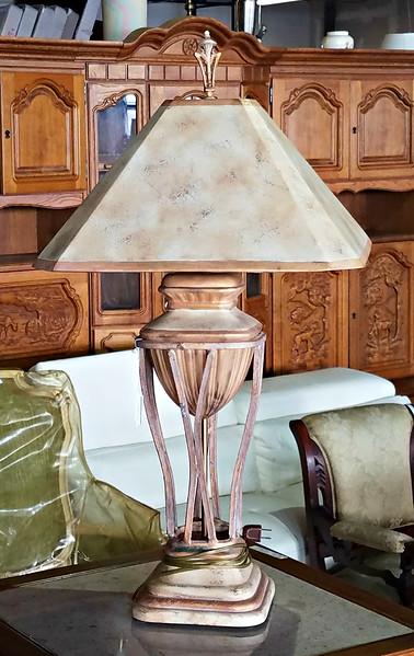 Cast Metal Table Lamp